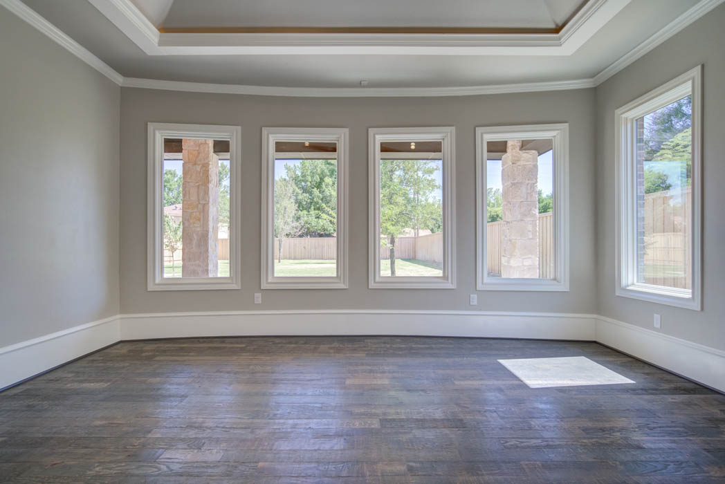 Spacious open dining area in Lubbock custom home.