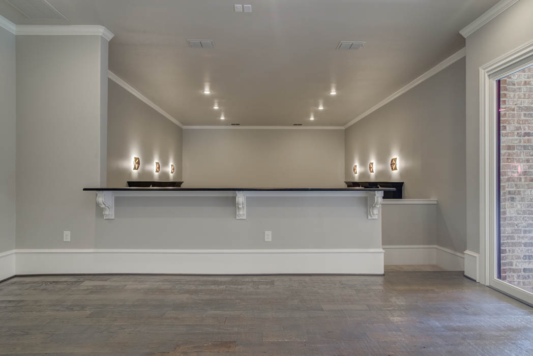 Living area in beautiful custom home by Sharkey Custom Homes, inLubbock, Texas.