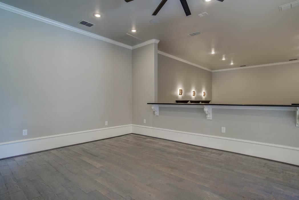 Added mezzanine living space in custom home in Lubbock, Texas.