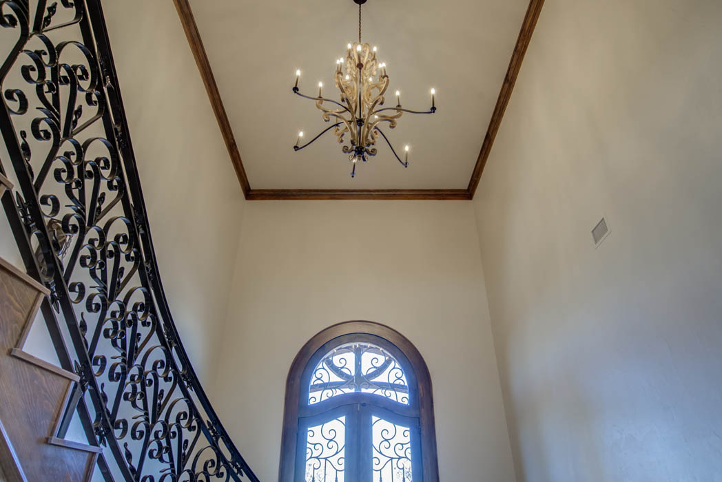 Interior of beautiful custom home in the country near Lubbock, Texas.