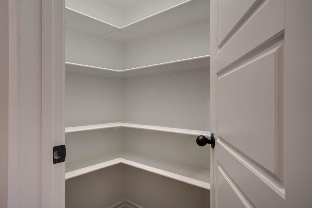 Pantry in new home for sale in Lubbock.
