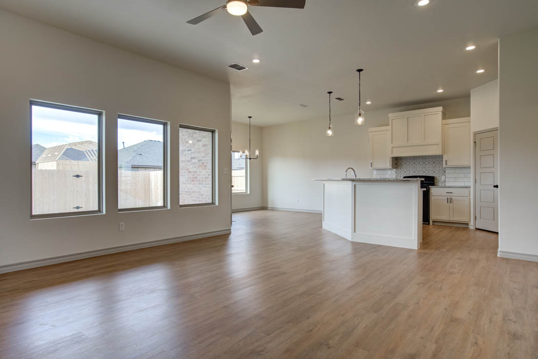 Living area in new home for sale in Lubbock, Texas.