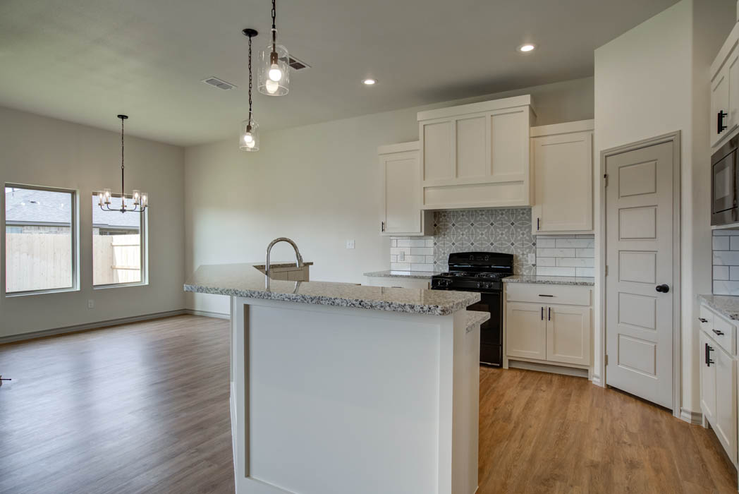 Beautiful kitchen in new home for sale in Lubbock, Texas.