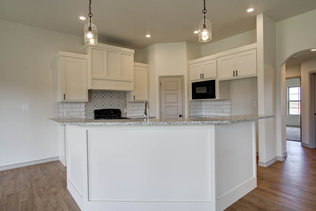 Beautiful, modern kitchen in new home for sale in Lubbock, Texas.