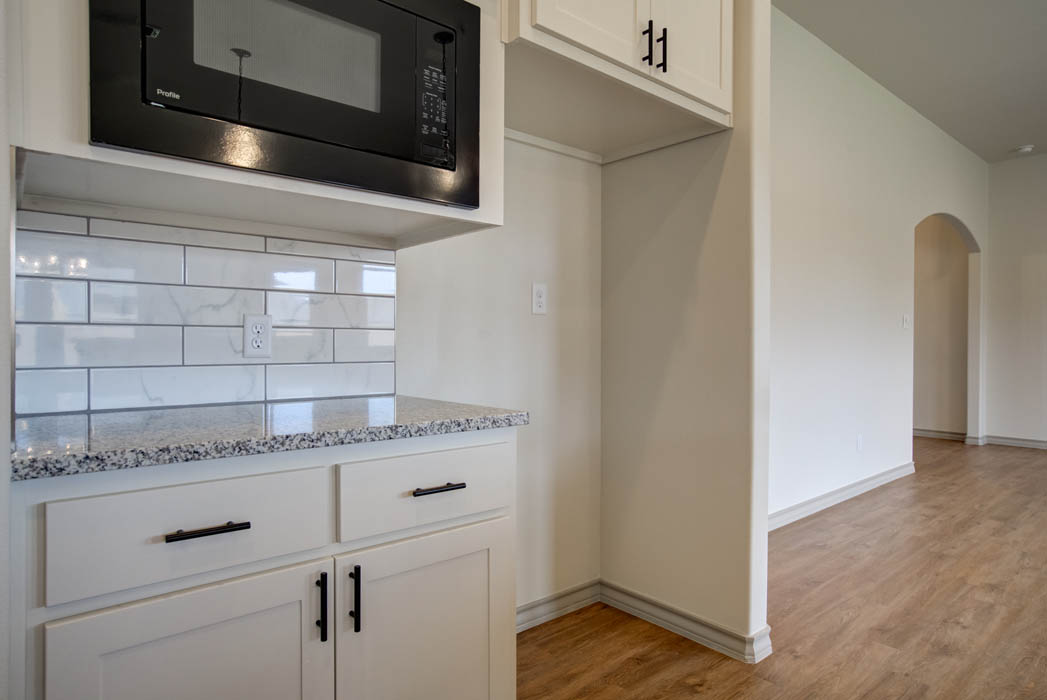 Kitchen in new home for sale in Lubbock, Texas.