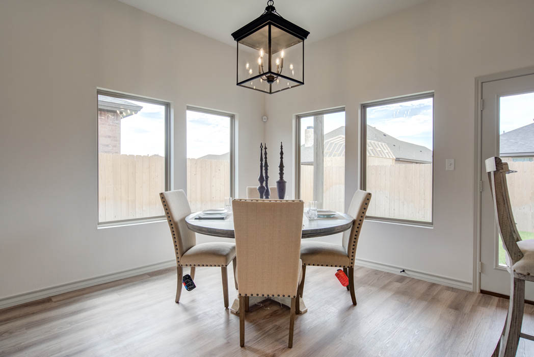 Dining area in new Lubbock home.