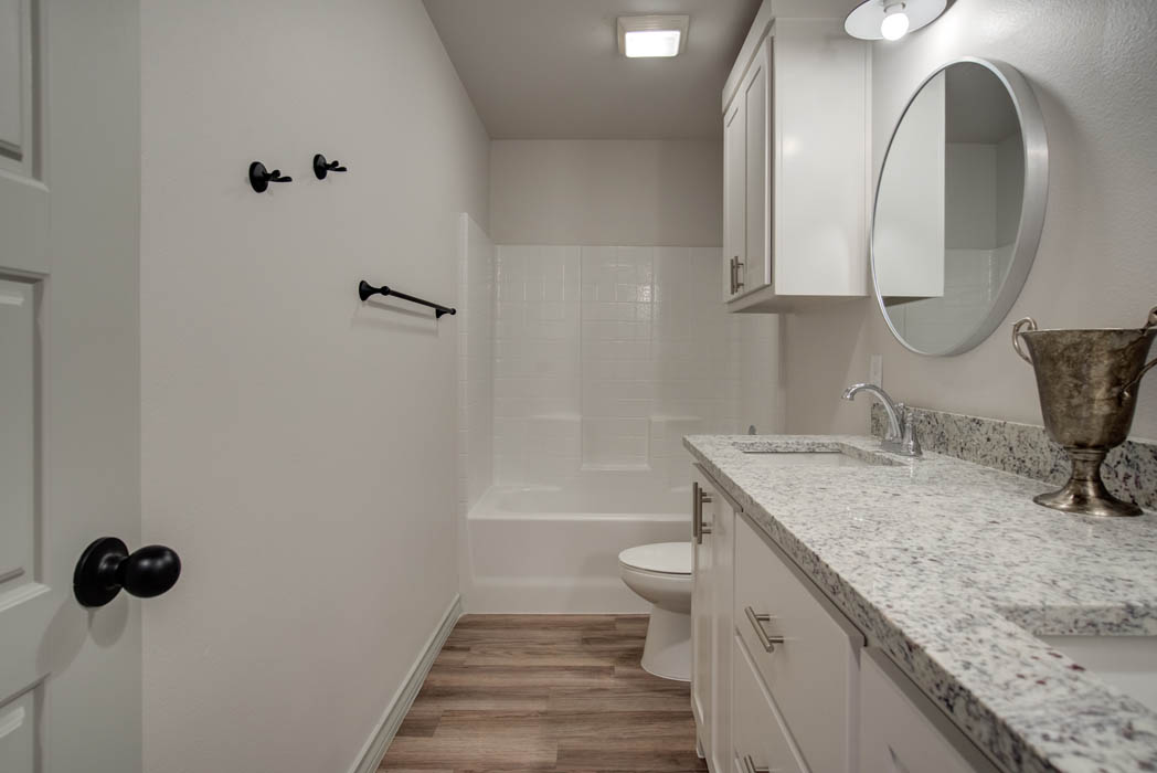 Guest bath in beautiful new home for sale in Lubbock.