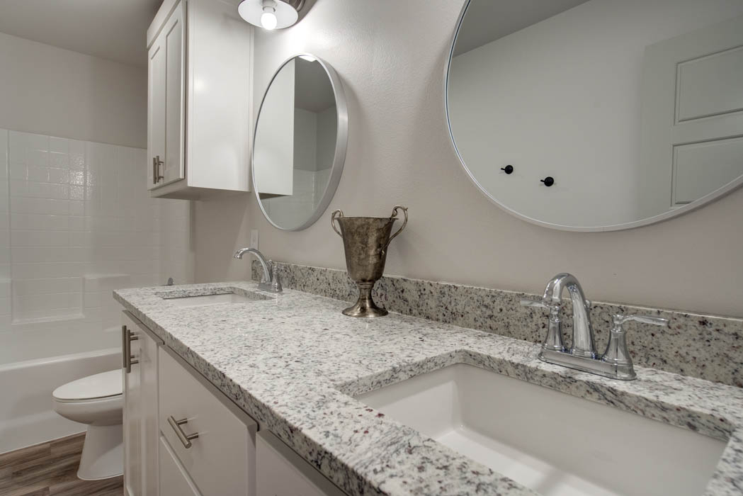 Beautfiul bath in new home for sale in Lubbock.