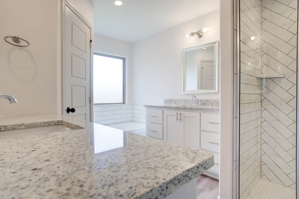 Beautiful master bath of new home for sale in Lubbock.