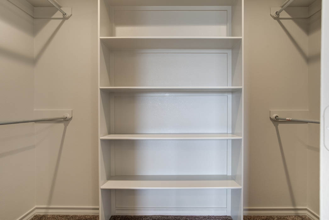 Master closet in new home for sale in Lubbock, Texas.