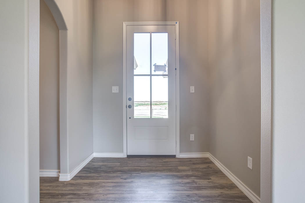 Beautiful entry in new home for sale in Lubbock.