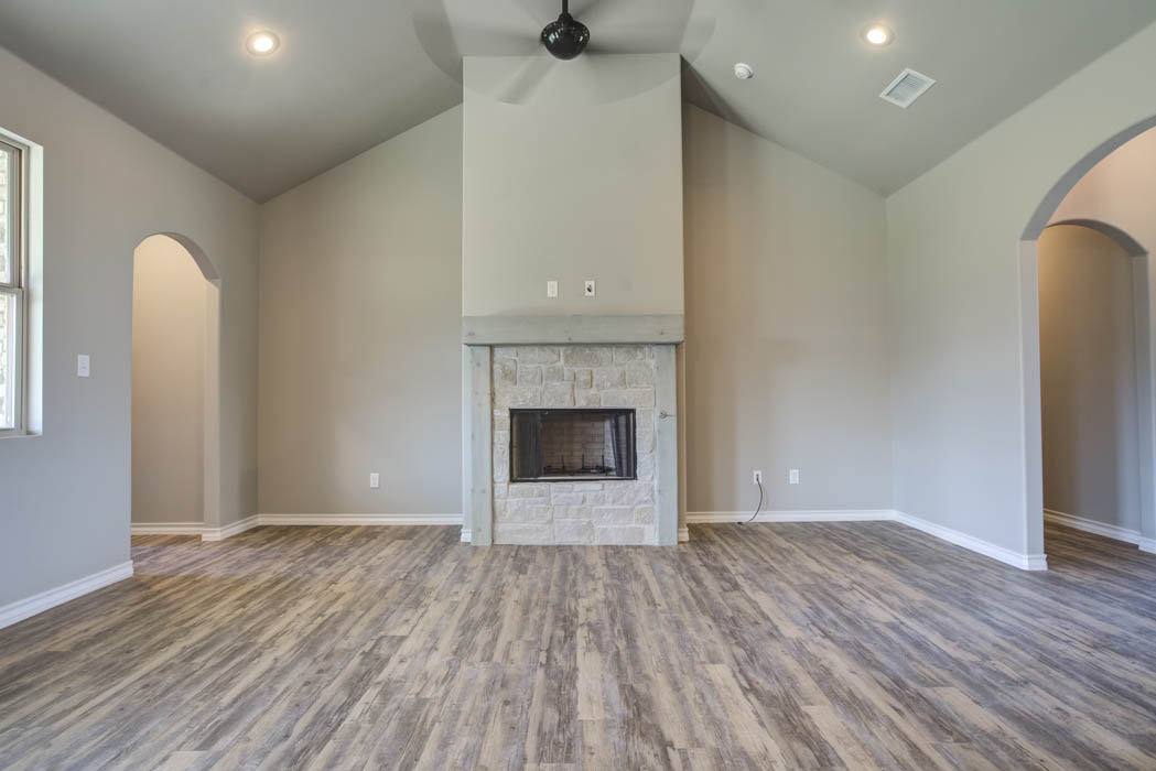 Living area in home for sale in Lubbock.