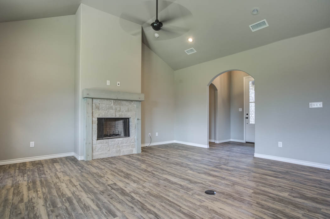 View of large, beautiful living area in Lubbock, Texas home for sale.