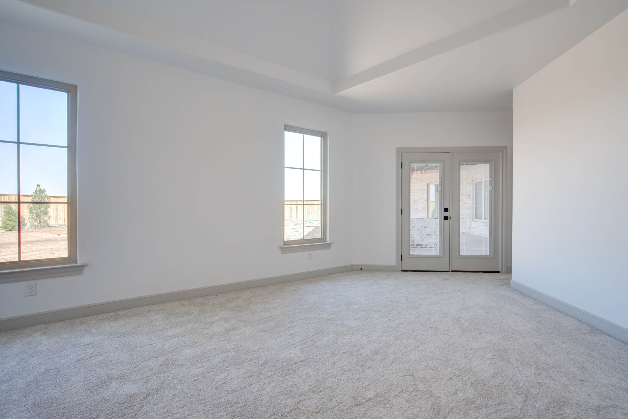 Spacious master bedroom in new home for sale near Lubbock, Texas.
