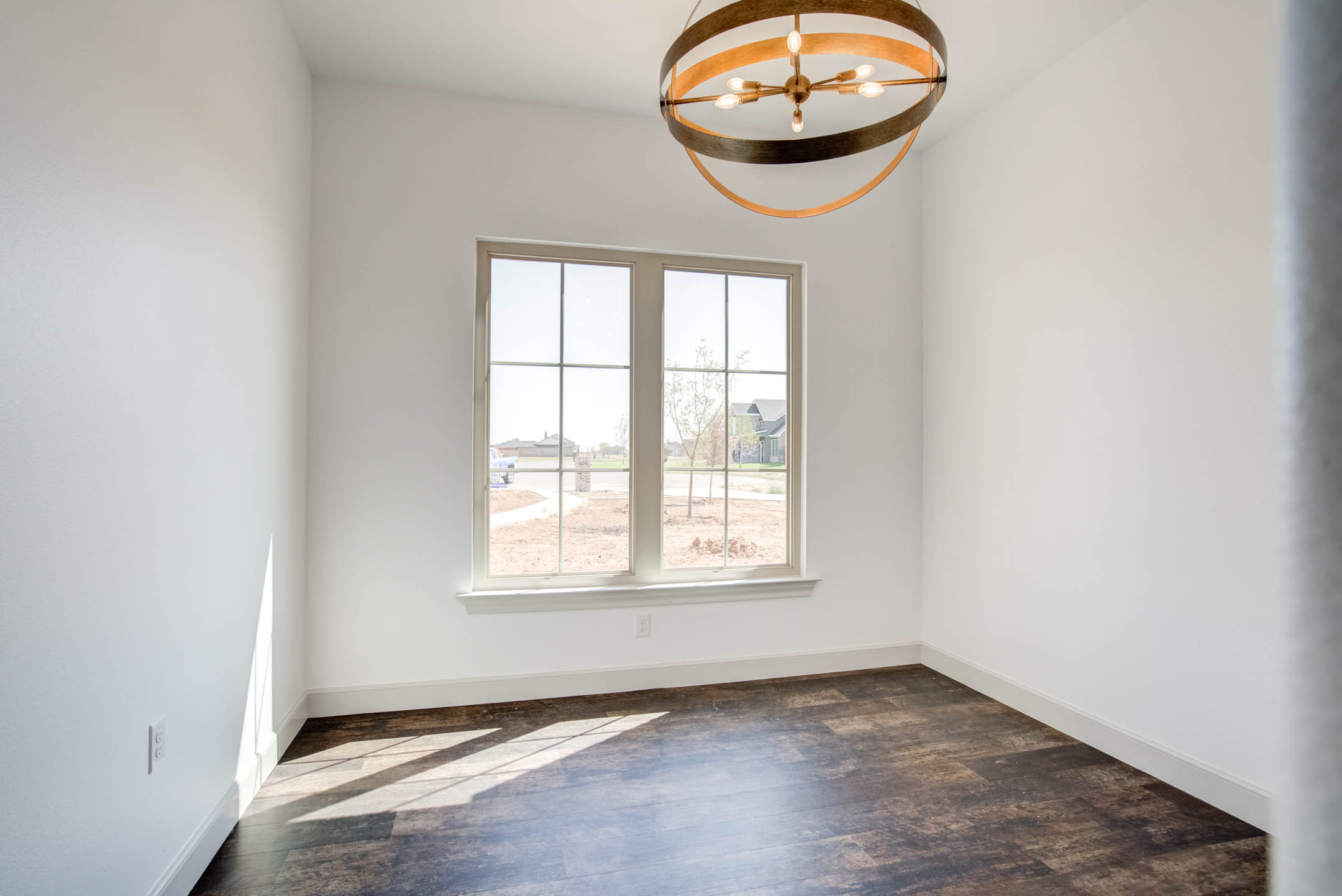 Dining room in new home for sale near Lubbock.