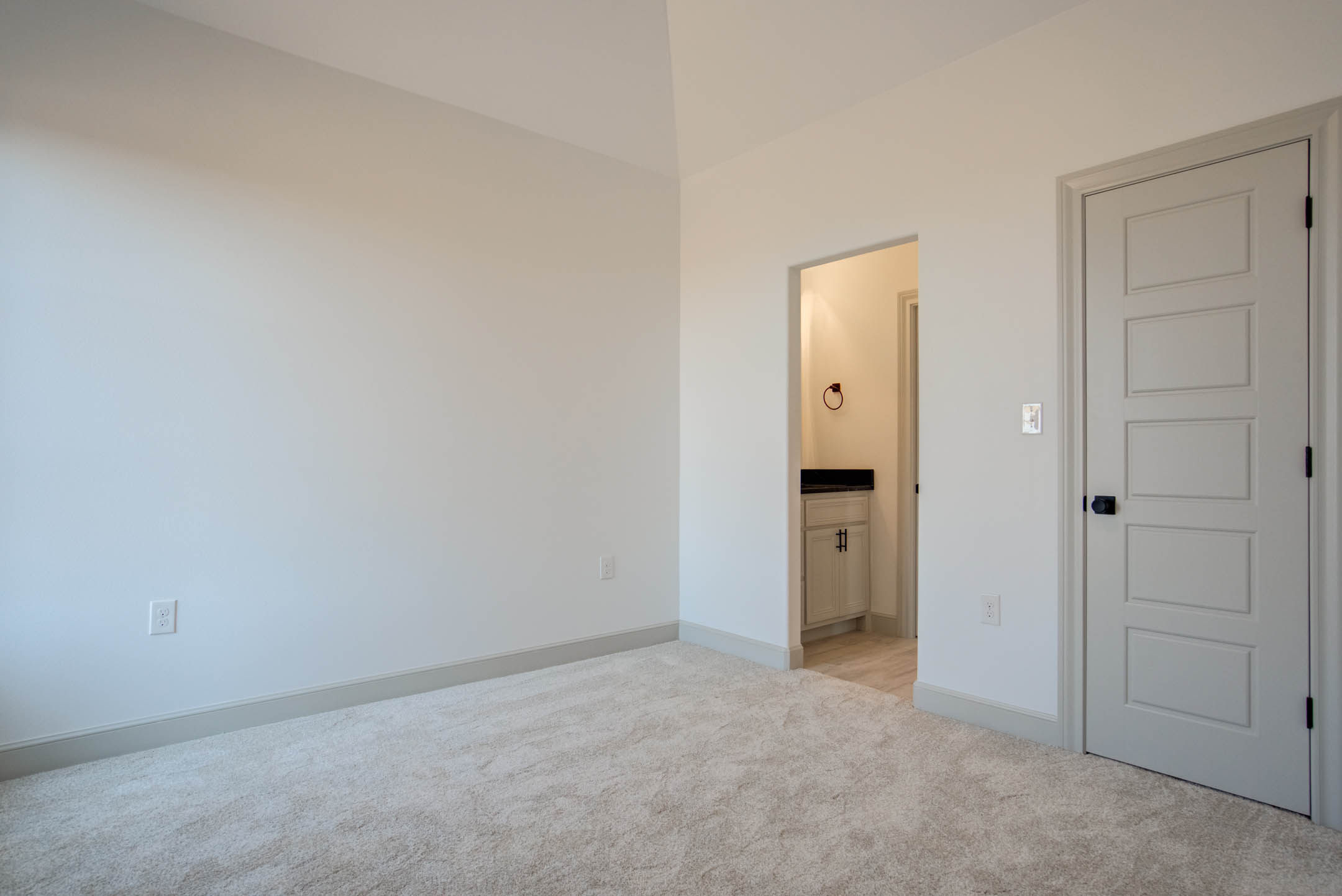 Spacious bedroom in new home for sale near Lubbock, Texas.
