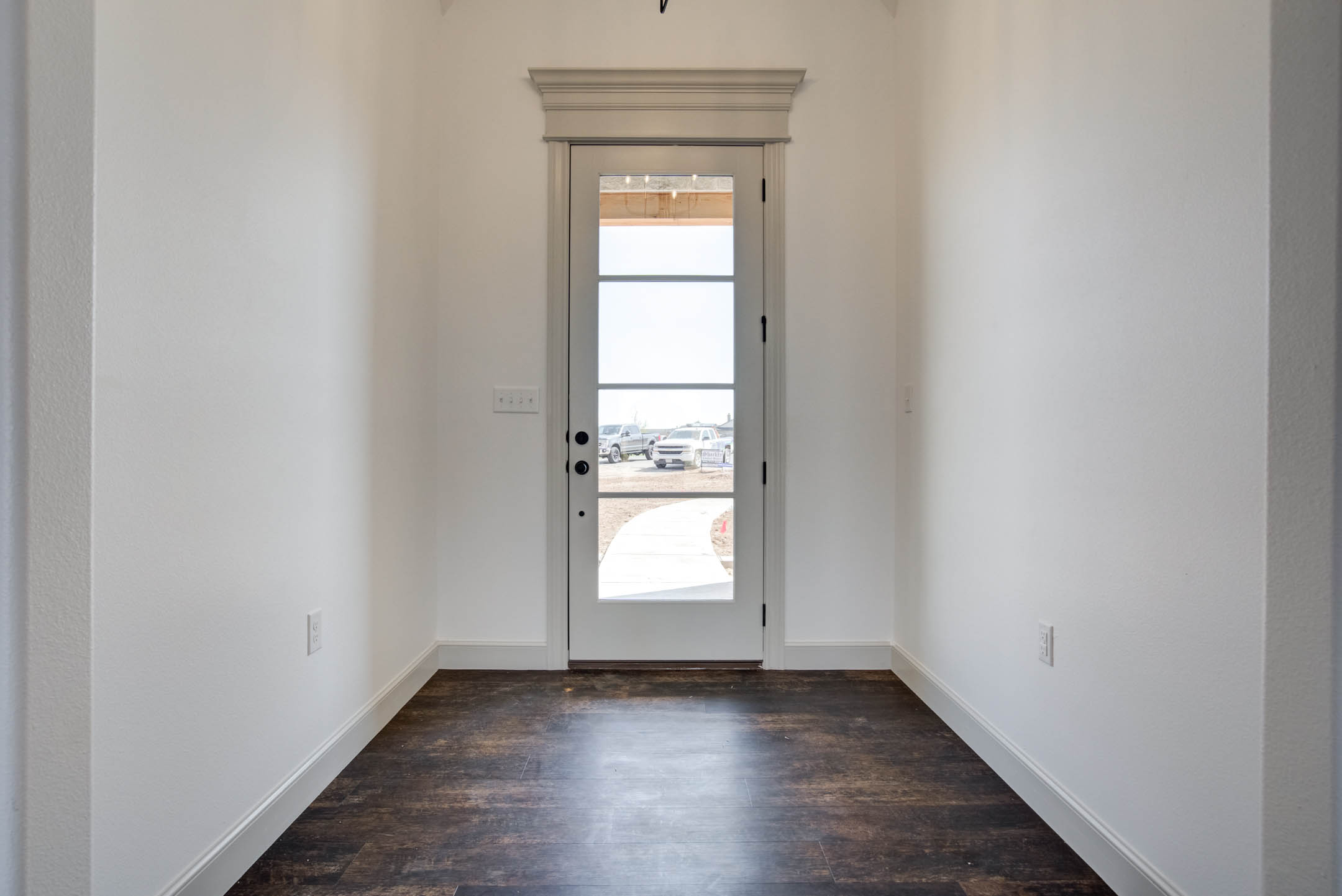 Entry foyer of new home for sale in West Texas near Lubbock.