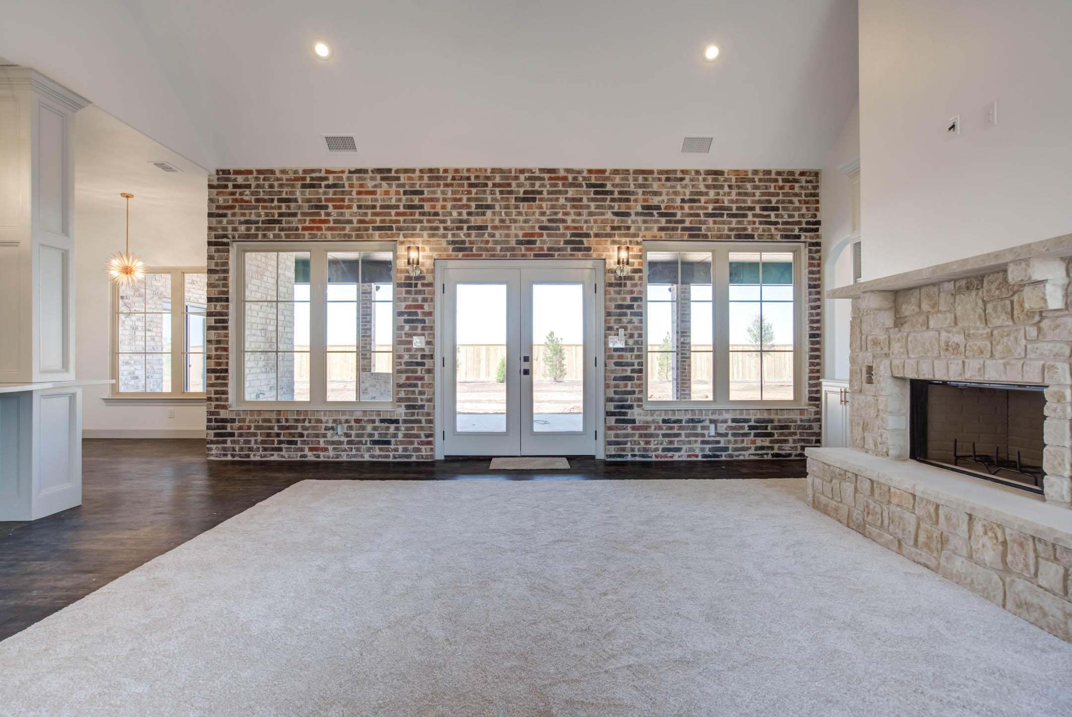 Beautiful living area in new home for sale in West Texas, near Lubbock.