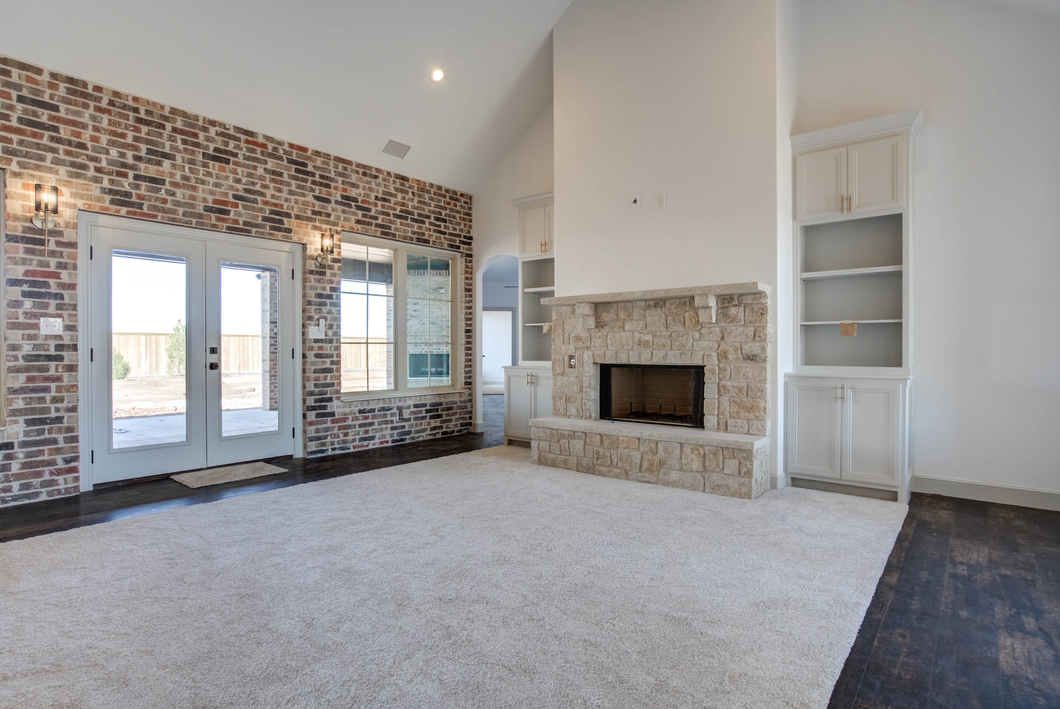 Beautiful living area in new home for sale near Lubbock, Texas.
