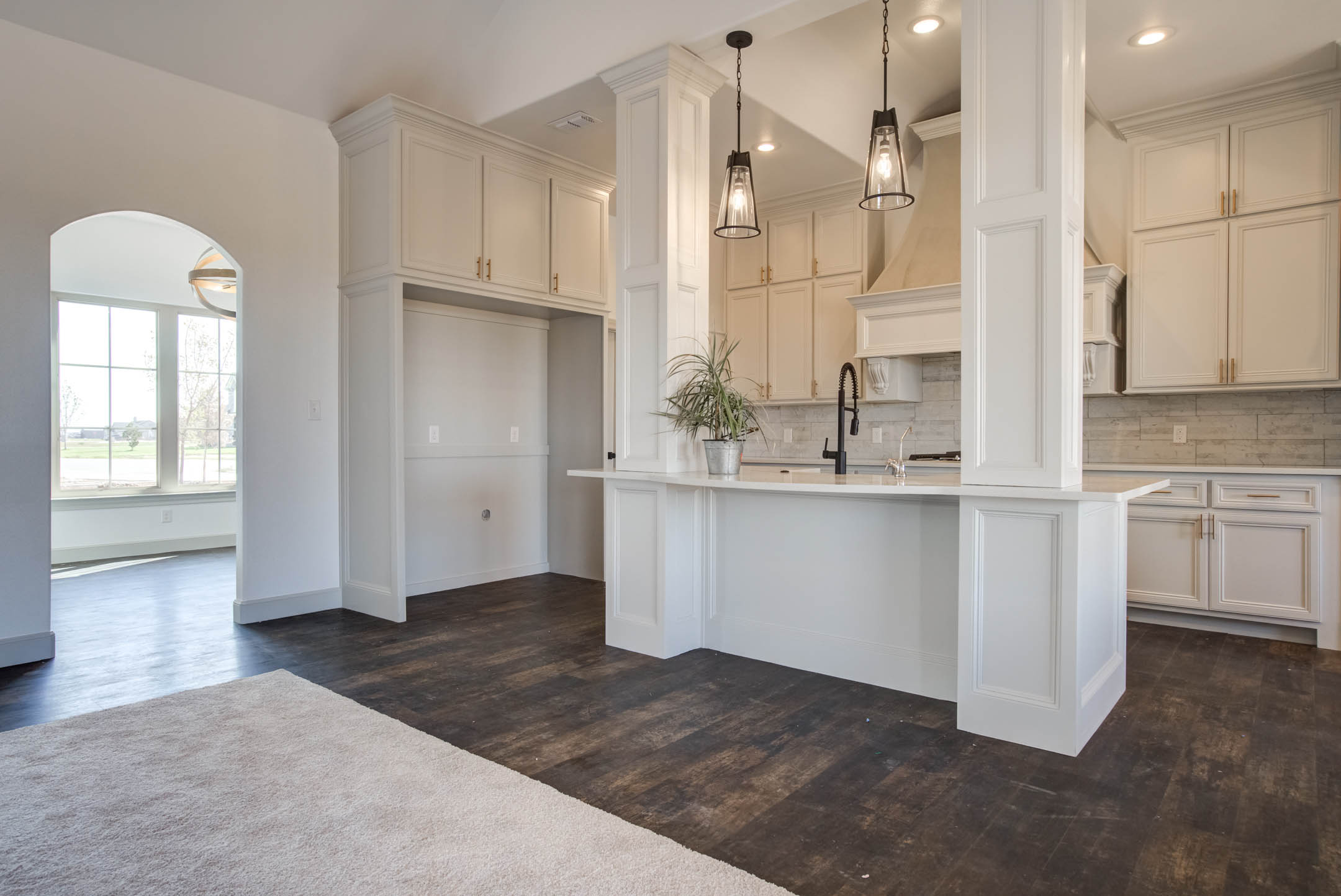 Beautiful, modern kitchen in new home for sale near Lubbock, Texas.