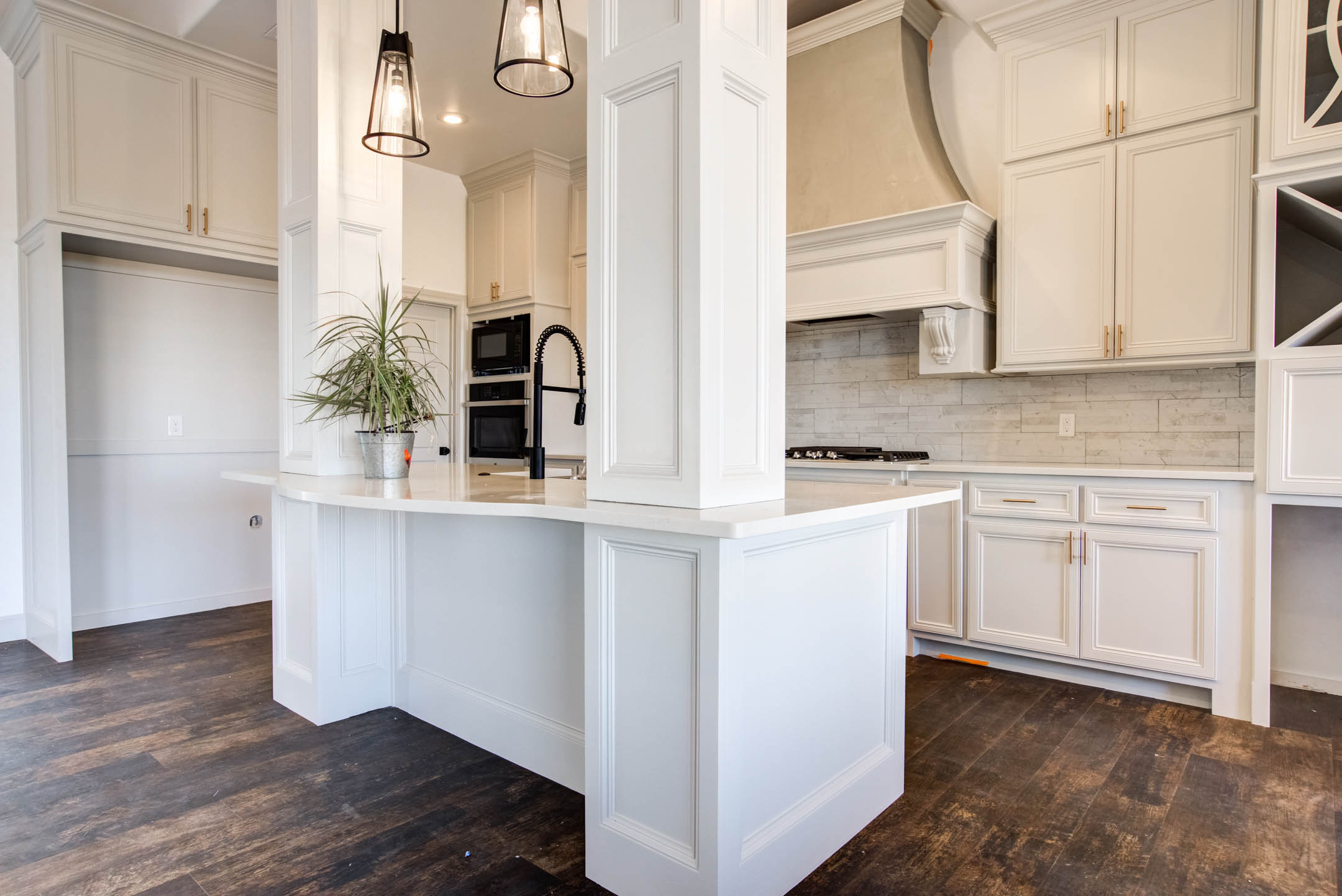 Kitchen in new home for sale near Lubbock, Texas.