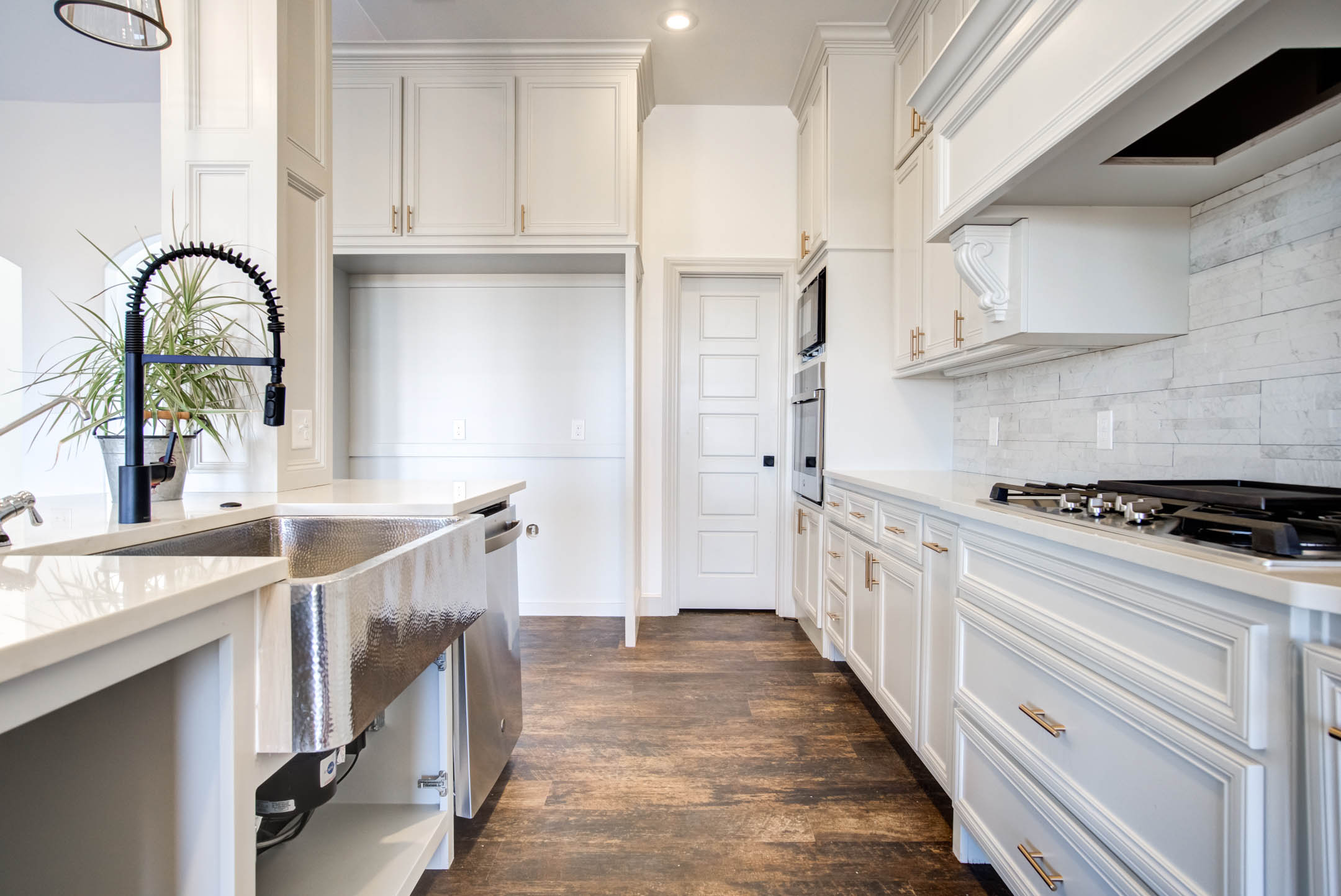 Spacious kitchen in new home for sale near Lubbock, Texas.