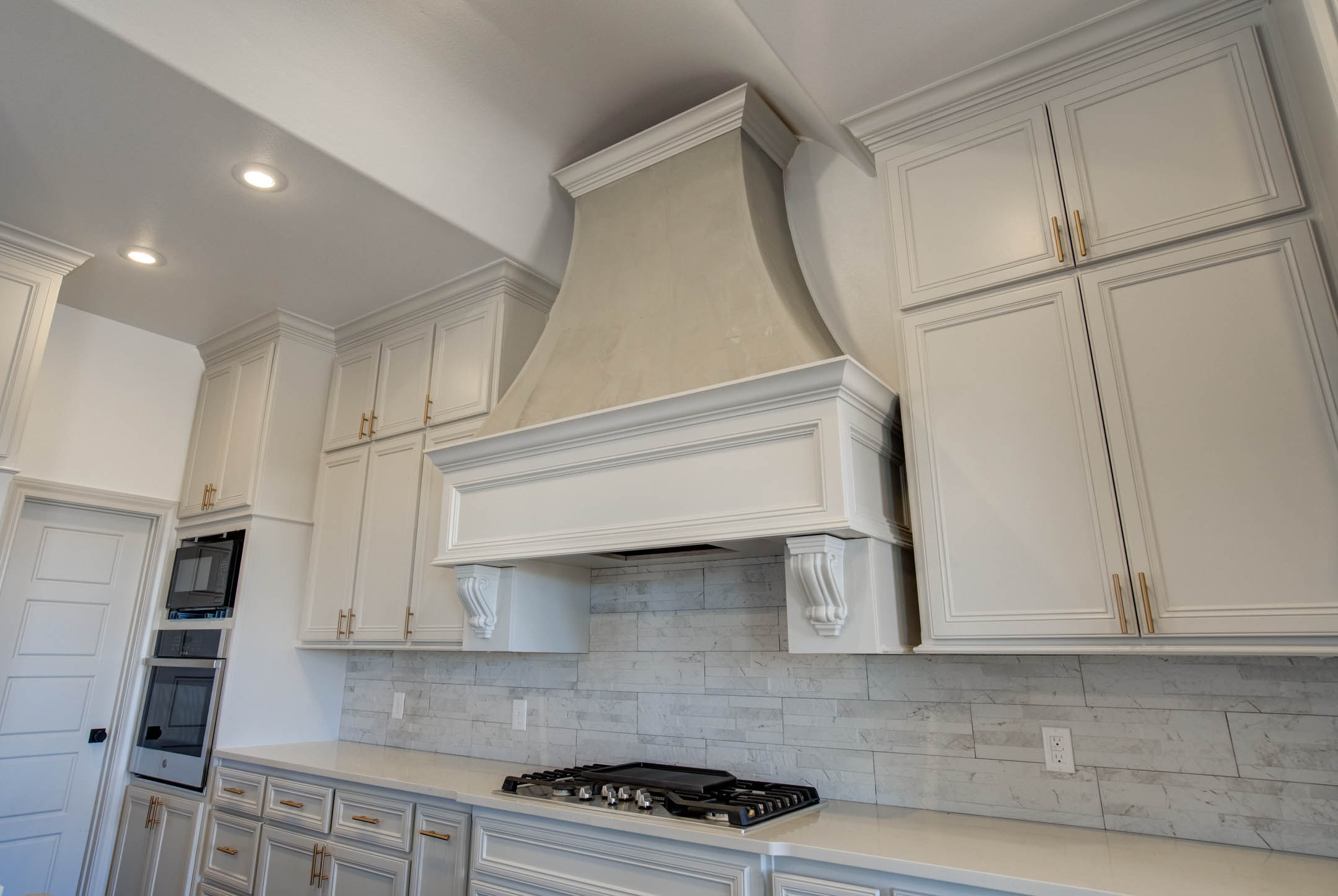 Vent hood in kitchen of custom home near Lubbock.