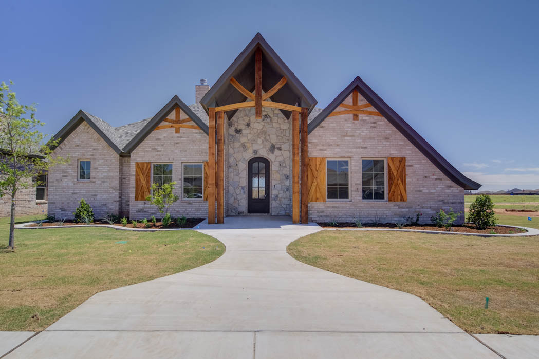 Exterior of beautiful new home in Lubbock, Texas.