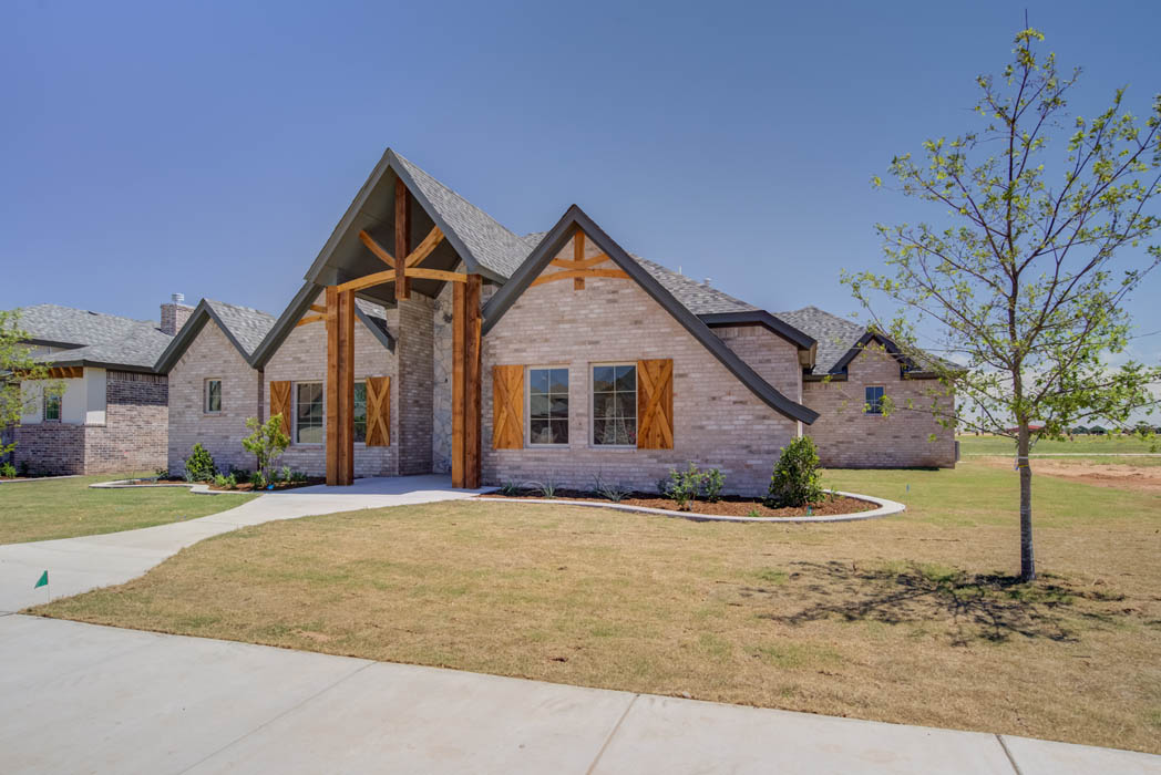 Beautiful new home for sale in Lubbock, Texas by Sharkey Custom Homes.