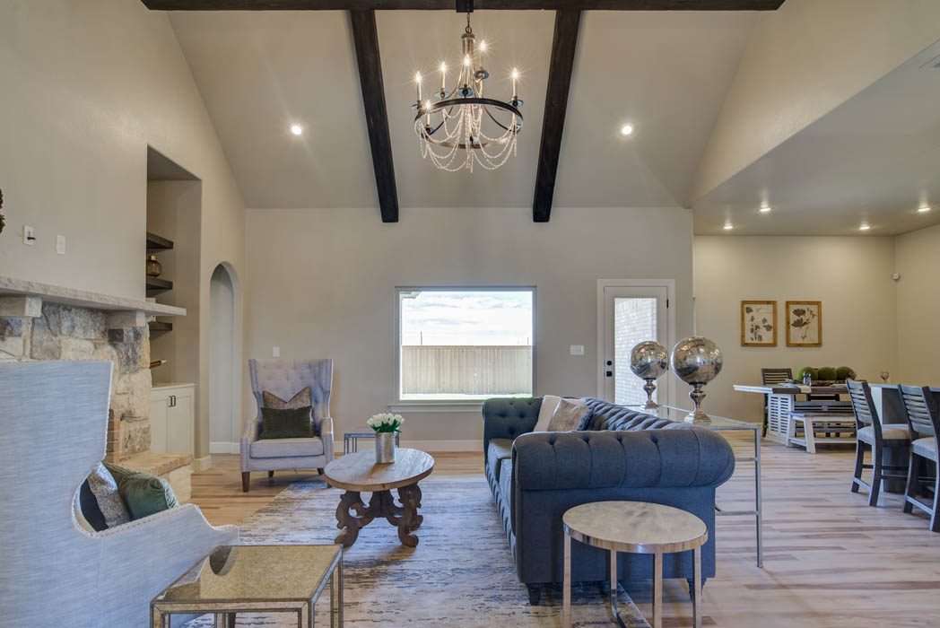 Living area for gorgeous new home in Lubbock, Texas.
