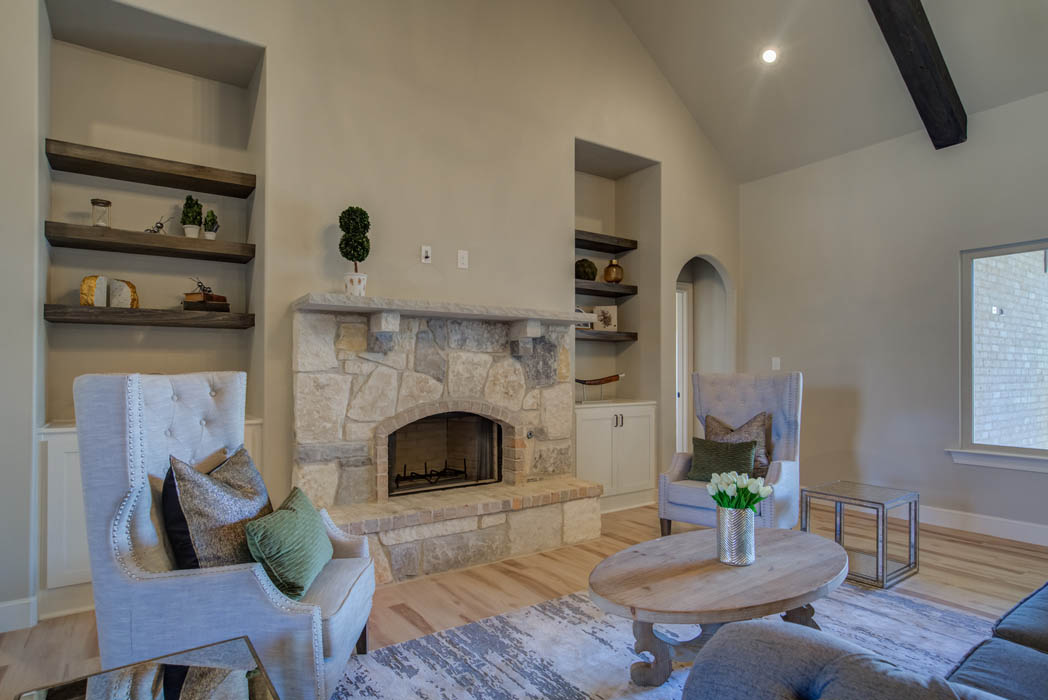 Living area in new house in the Lubbock, Texas area.