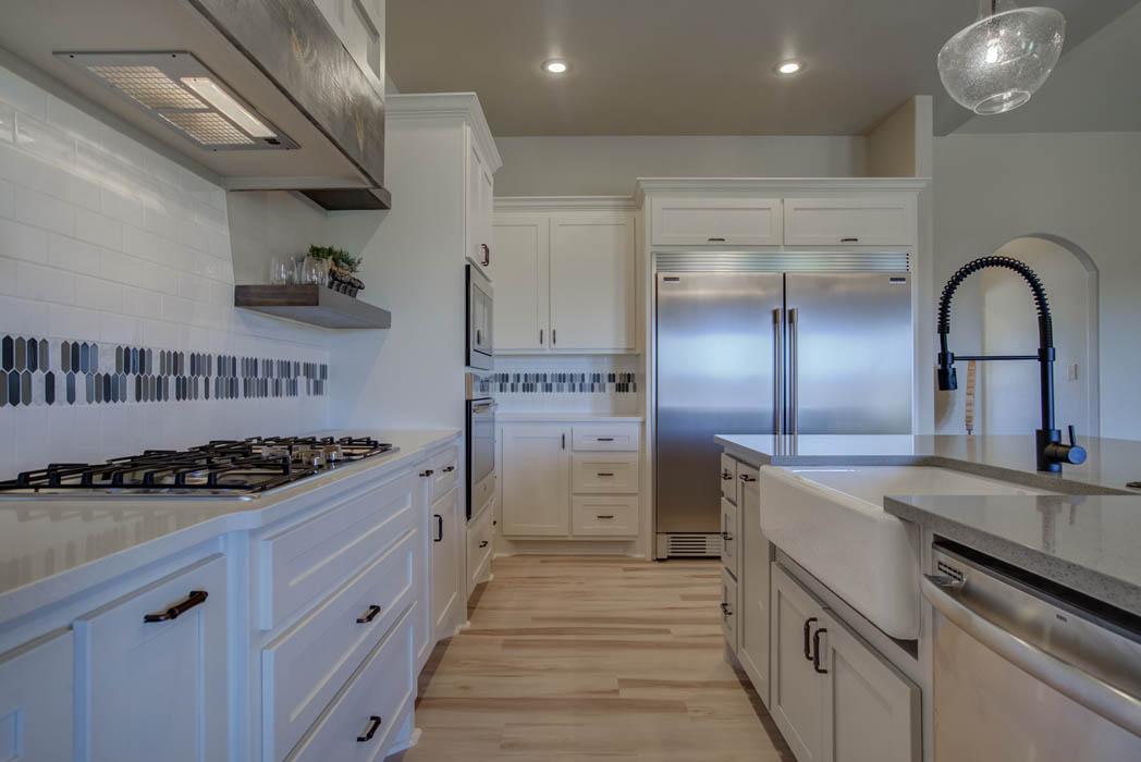 Spacious kitchen area in Lubbock, Texas home.