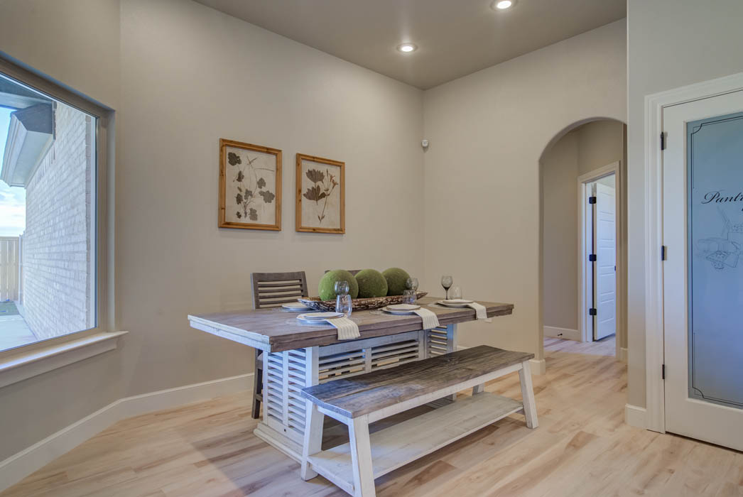 Beautiful, quaint dining area  in new home for sale in Lubbock, Texas.