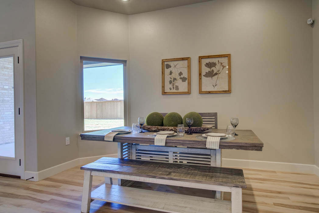 Quaint dining area in Lubbock home for sale.