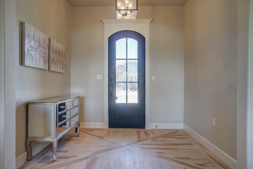 Entry of beautiful new home in Lubbock, Texas.