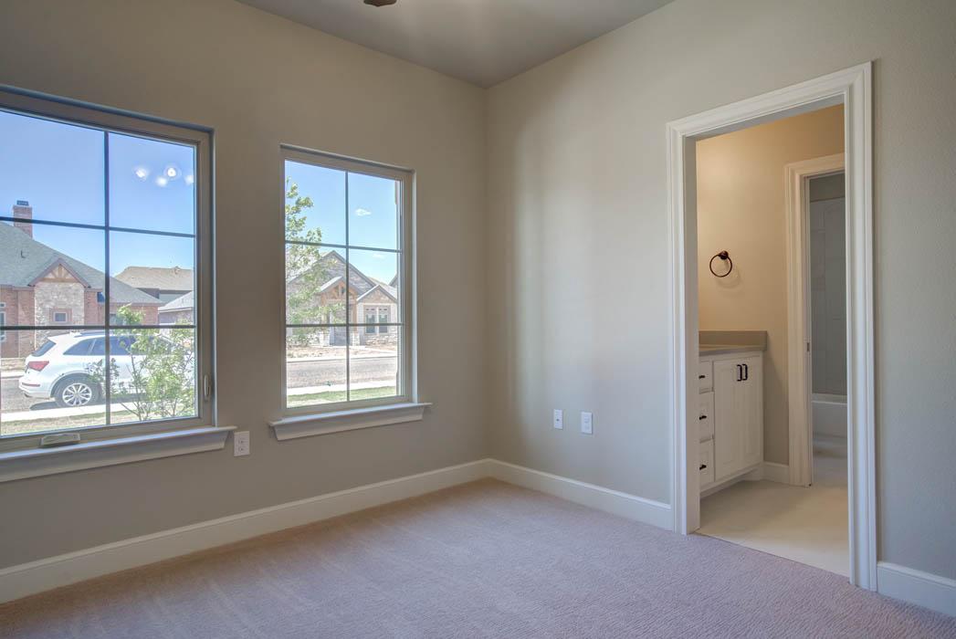 Spacious bedroom in Lubbock, Texas home.
