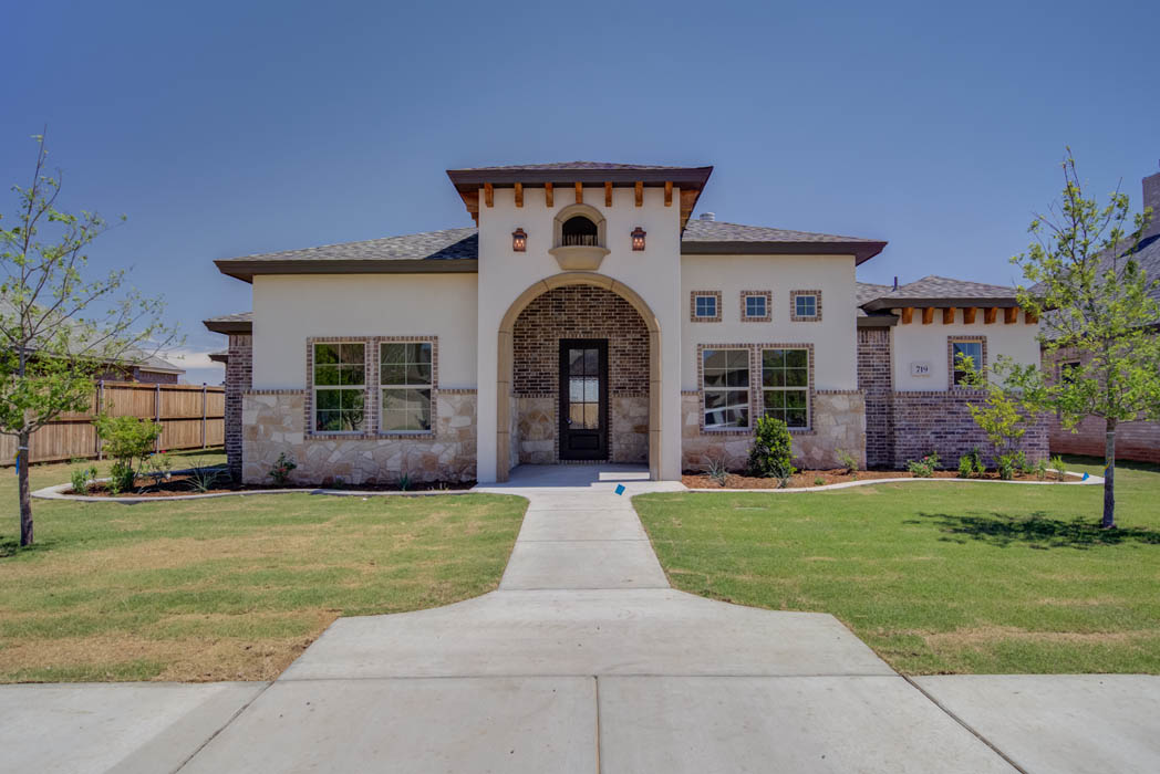 Entry of beautiful new home in Wolfforth, Texas.
