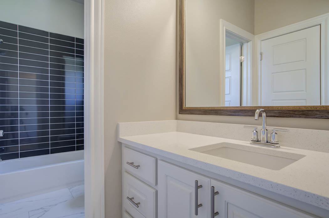 Guest bathroom in beautiful new Wolfforth, Texas home.
