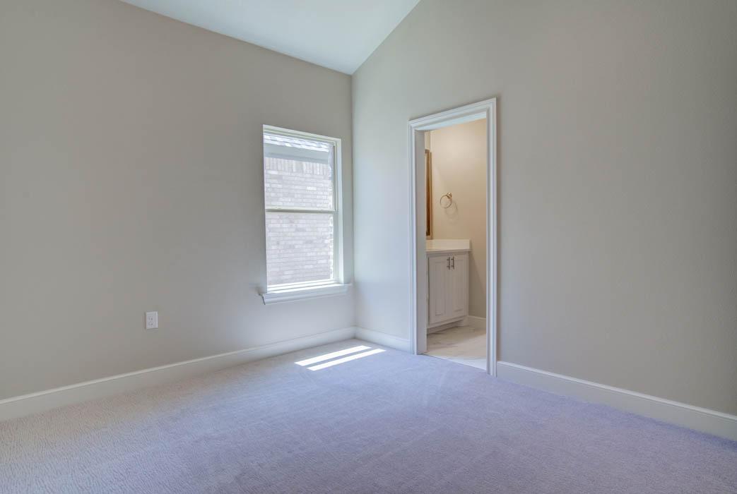 Bedroom in beautiful new home in West Texas.