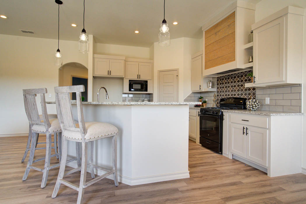 Beautiful island in spacious kitchen in home for sale in Lubbock.
