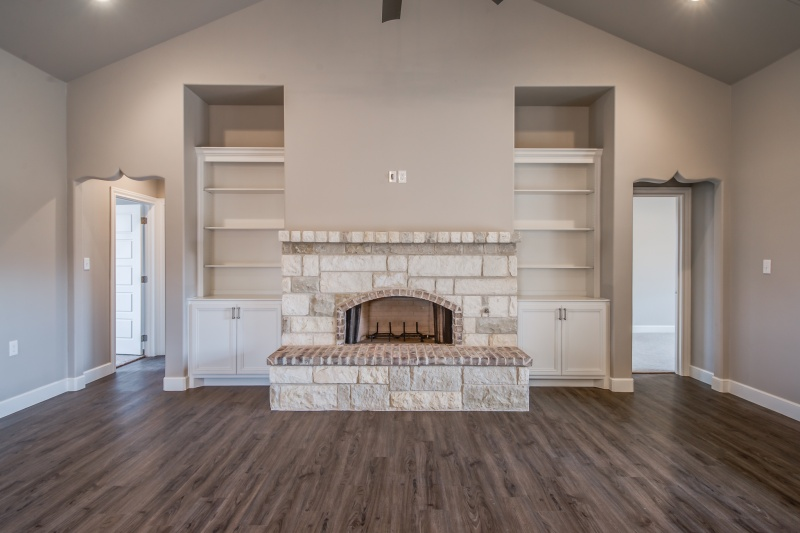 Beautiful Living Area in custom home in Lubbock.