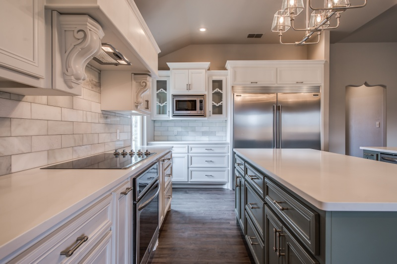 Beautiful kitchen in Lubbock custom home.