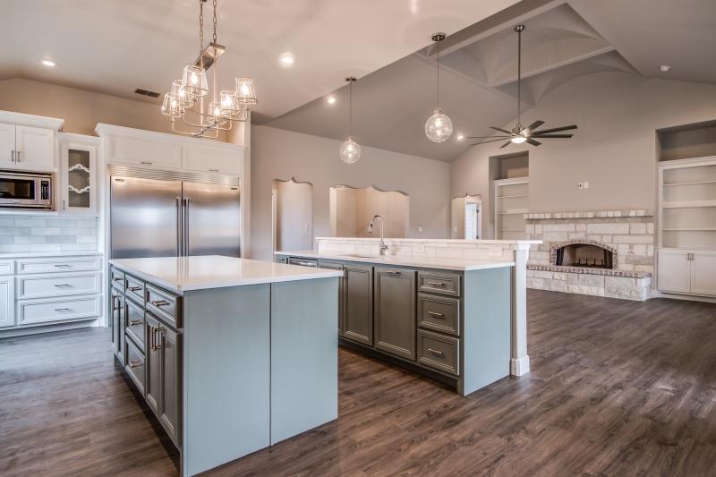 Spacious open concept plan in custom home.