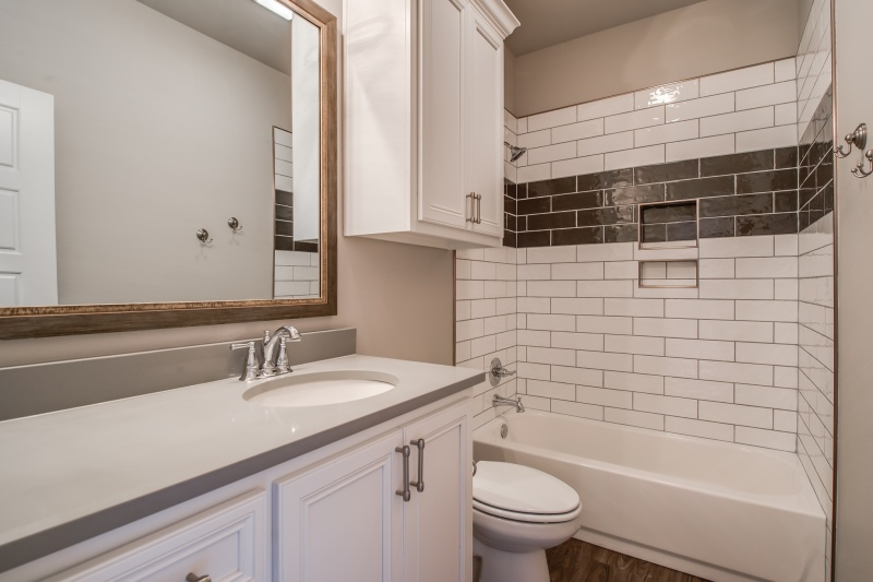 Spacious bathroom in custom home in Lubbock.