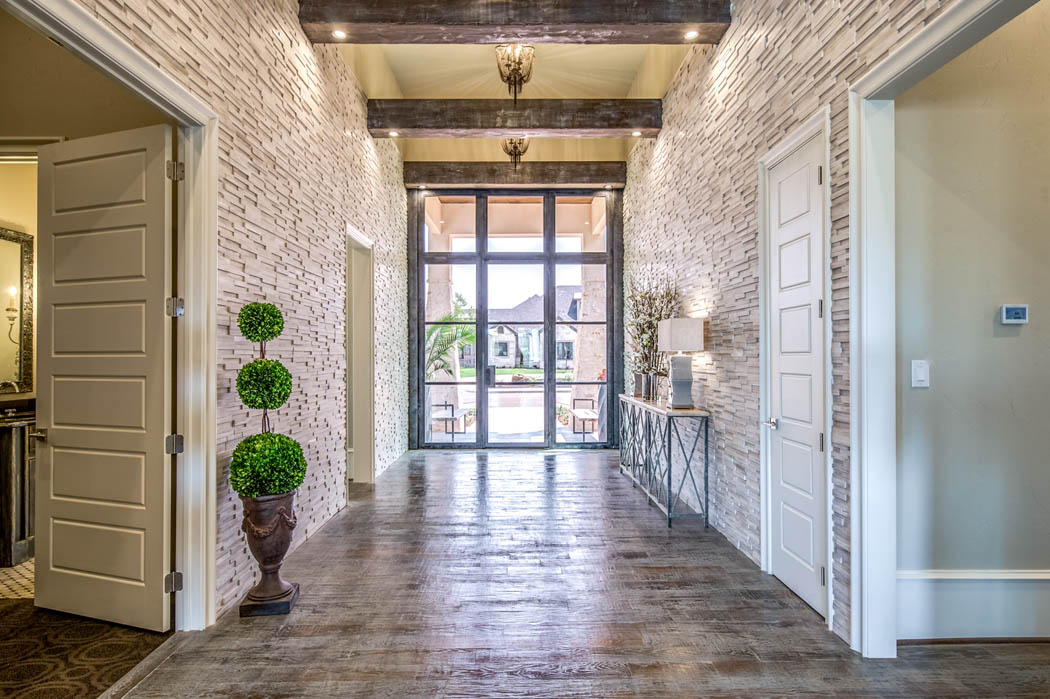 Detail of entry area in home in Lubbock, Texas.