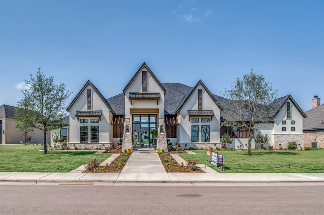 Beautiful exterior of custom home in Lubbock, Texas.