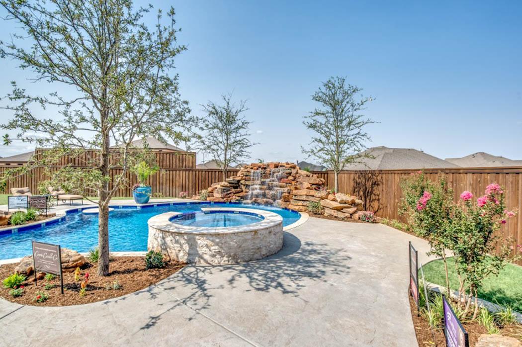 Pool in custom home in West Texas.