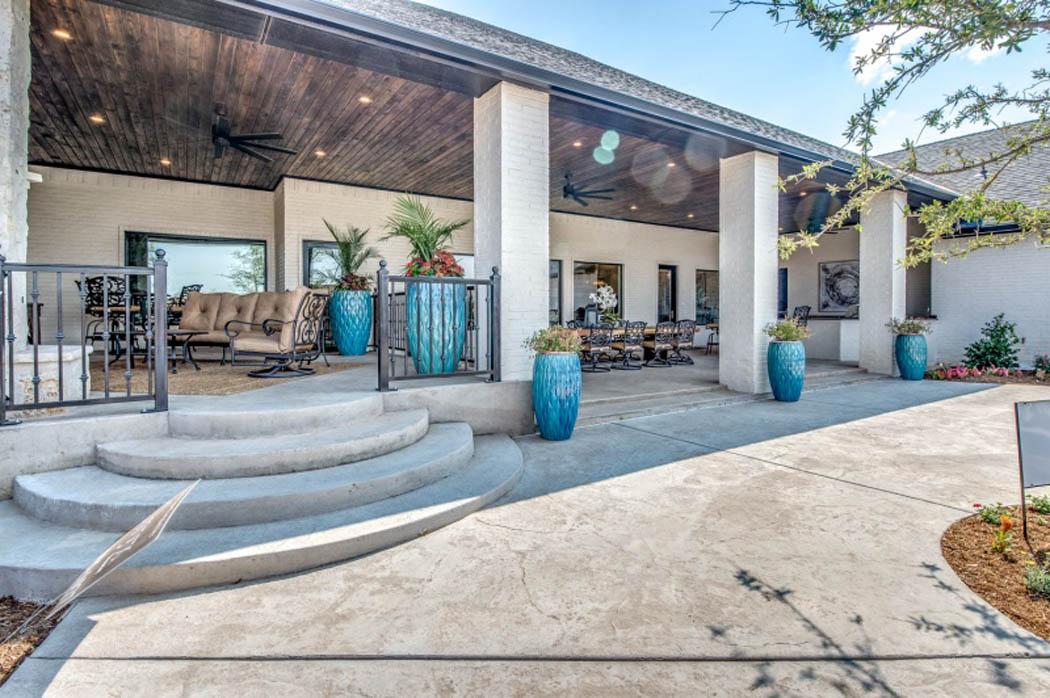 Beautiful patio in home by Sharkey Custom Homes in Lubbock.