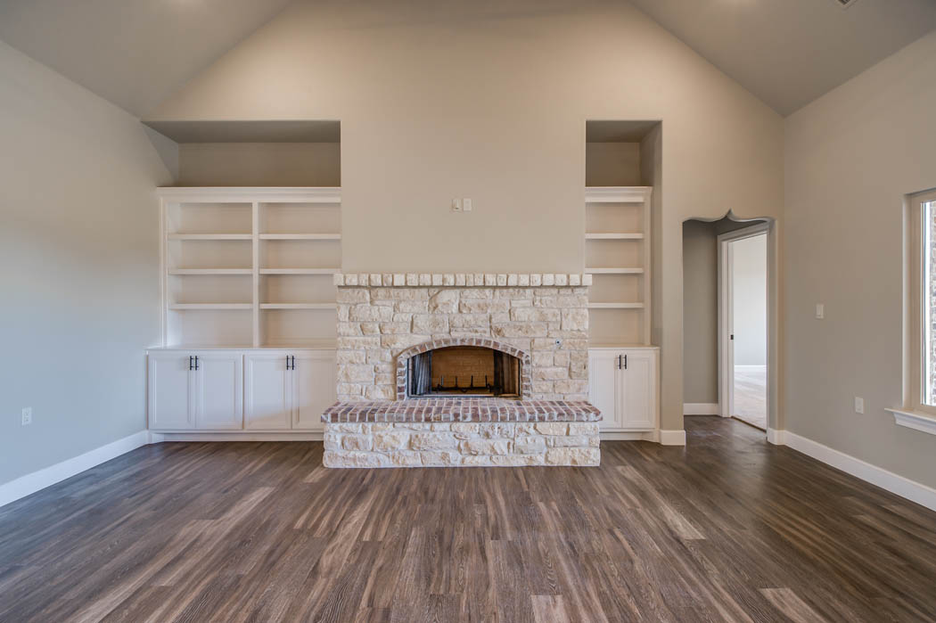 Beautiful custom home living room by Sharkey Custom Homes.