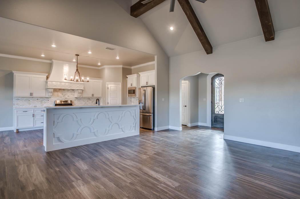 Custom home kitchen in Lubbock, Texas.